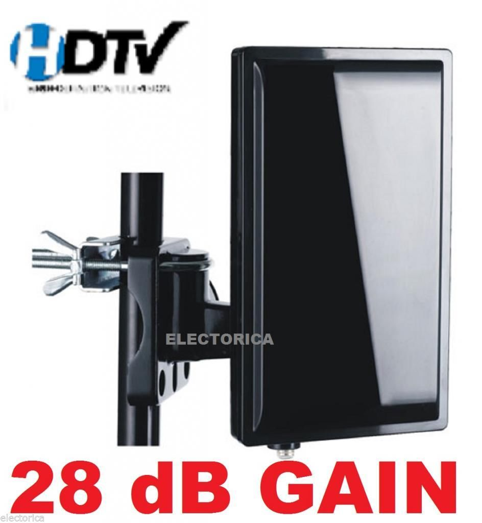 High Gain Digital Hd Tv Uhf Vhf Indoor Outdoor Antenna