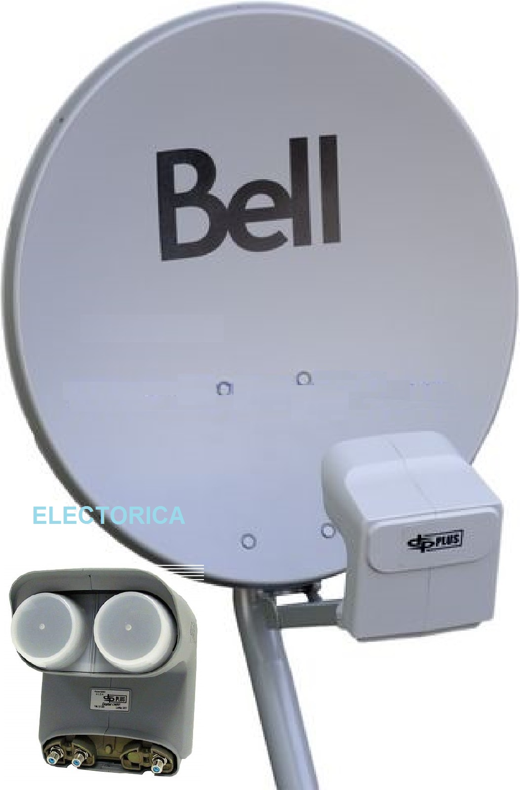 20 original bell dish 500 w twin dpp lnb for bell dish. Black Bedroom Furniture Sets. Home Design Ideas