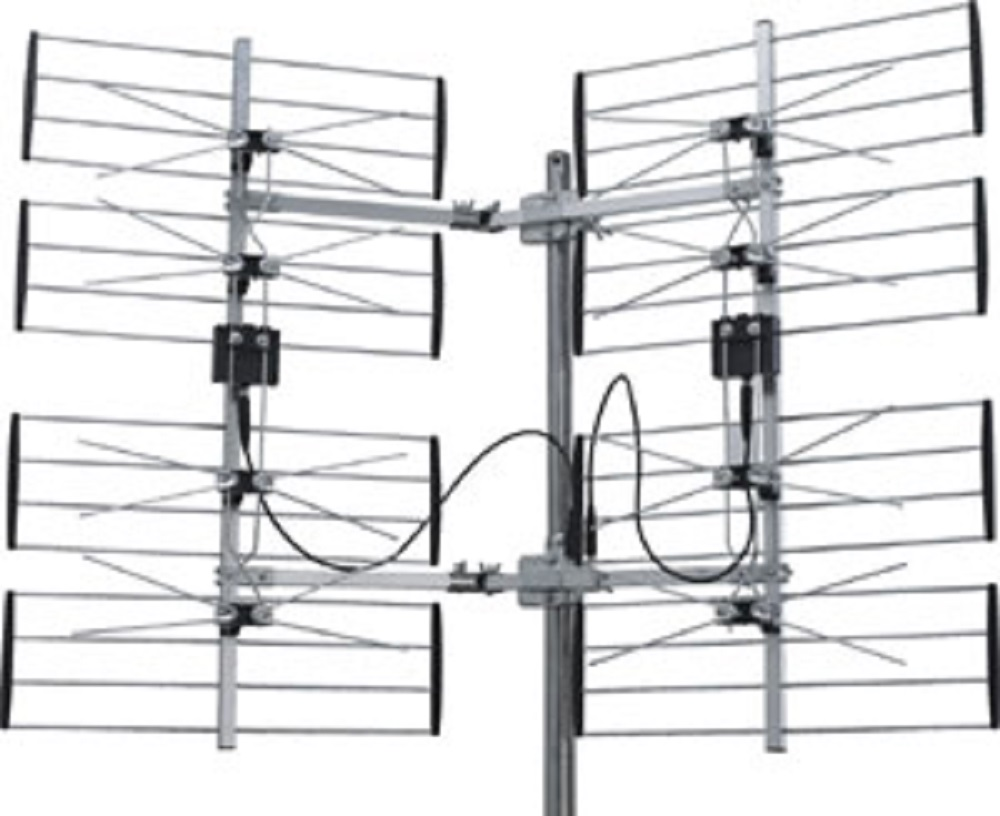 8 bay outdoor hdtv uhf dtv antenna hd tv splitter 8bay ota electorica rh electorica com Mount CB Radio Antenna Diagram 02 Taurus Wiring Diagram