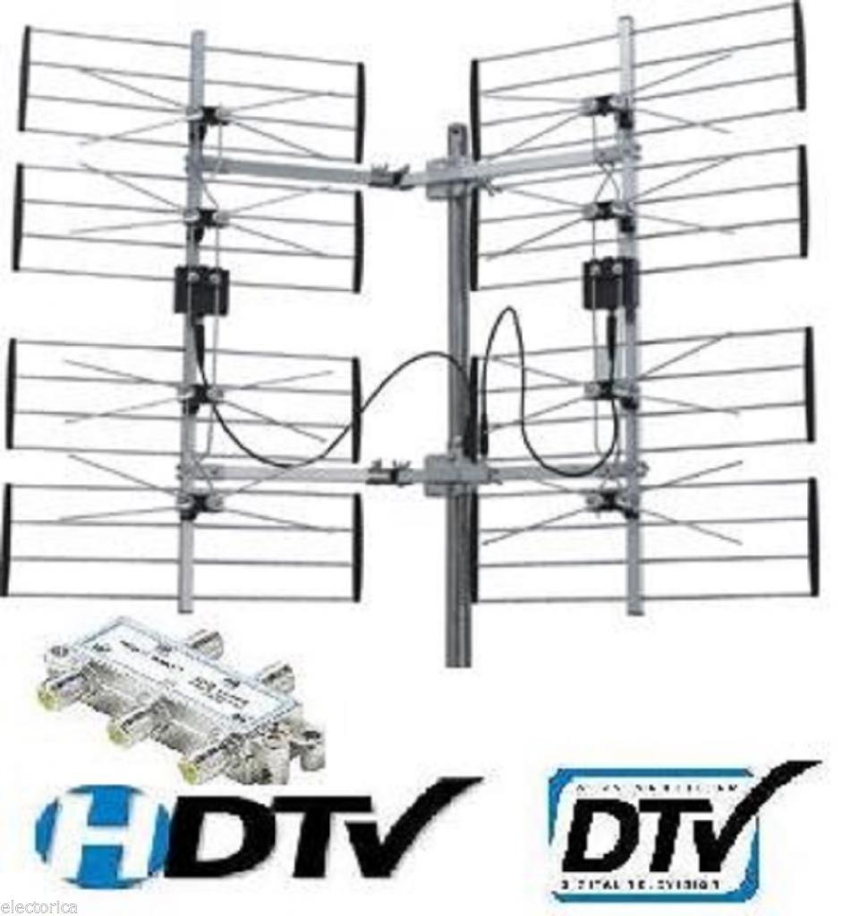 8 bay outdoor hdtv uhf dtv antenna hd tv splitter 8bay - Antena tv exterior ...