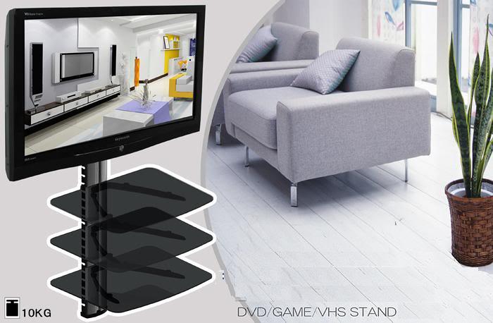 3 Tier Shelf Dvd Hd Box Tv Wall Mount Plasma Lcd 3d Led