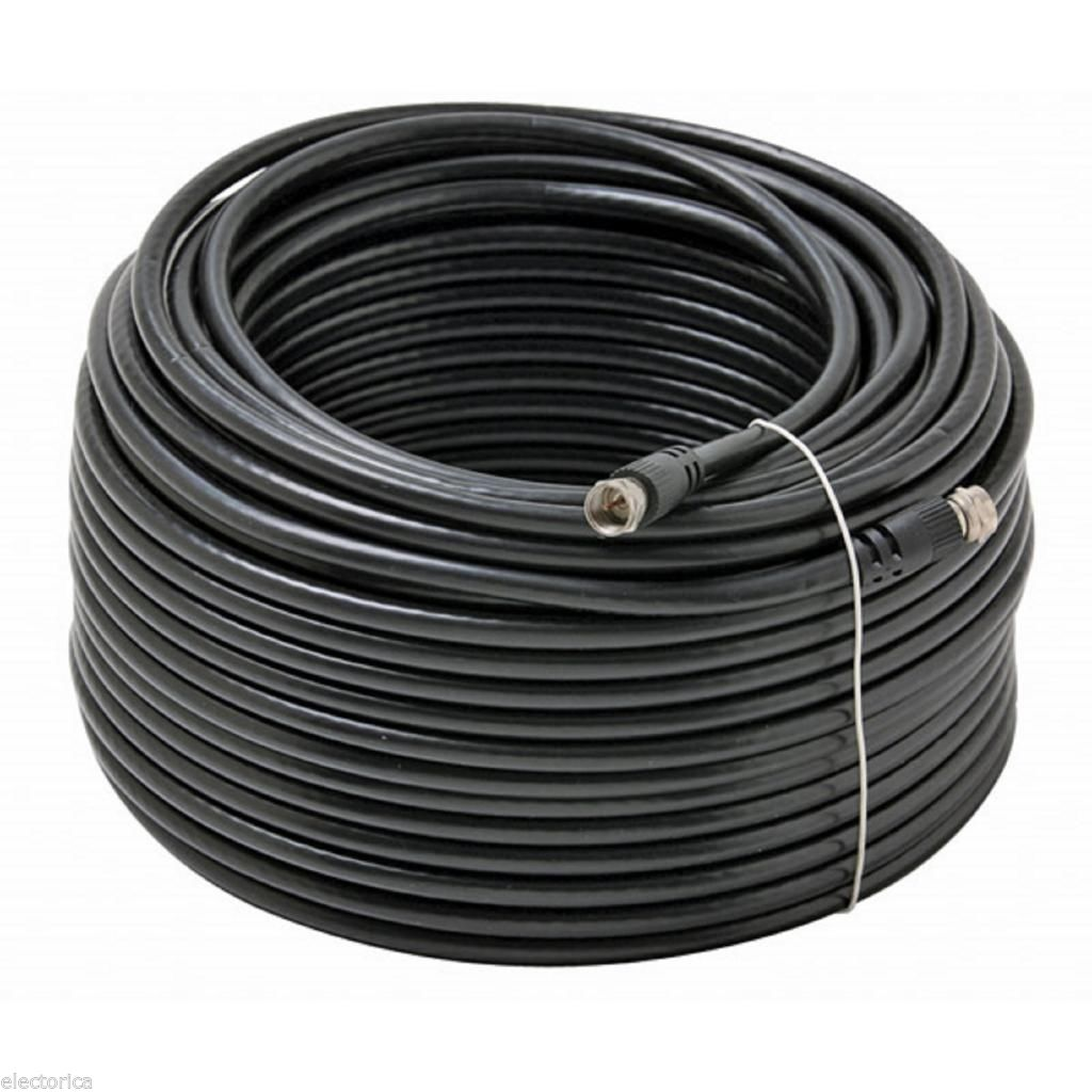 50 ft rg 6 satellite coax cable rg6 coaxial hd tv antenna ota di electorica. Black Bedroom Furniture Sets. Home Design Ideas