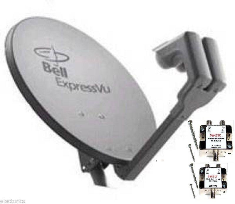 NEW 20 SATELLITE Dish 500 BELL Express Vu 2 LNB SW21 HD BEV