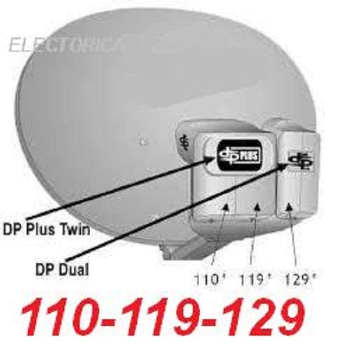 DISH NETWORK SATELLITE DISH 1000 500 PLUS DPP PRO HD 110-119-129