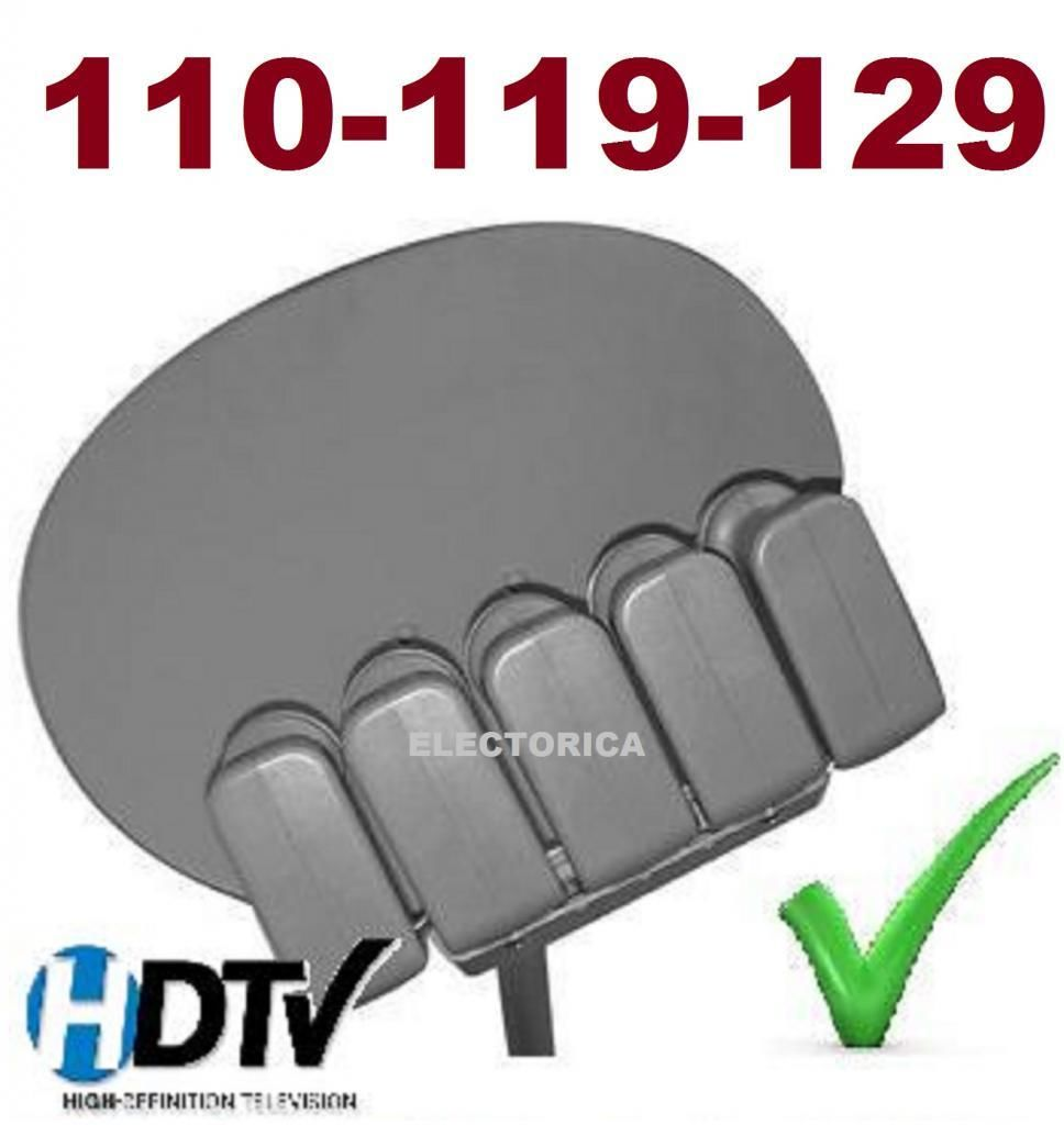 24 Quot Elliptical Oval Dish 110 119 129 Satellite 3 Lnb