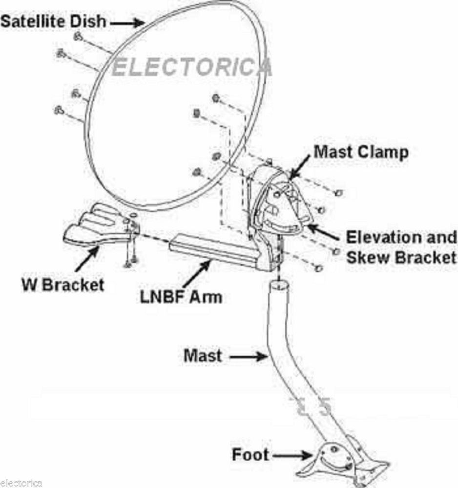 directv satellite dish parts diagram  directv  free engine